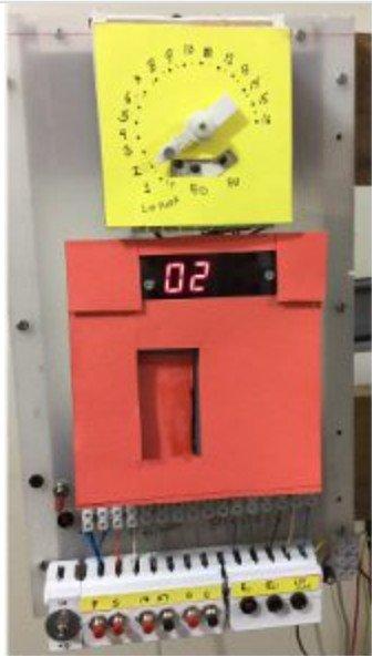 A Simple 16 Floor Elevator Simulator with Atmega8