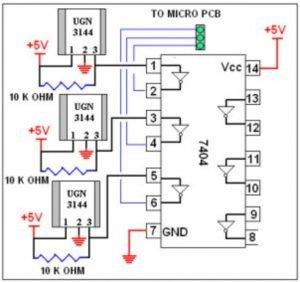 UGN3144 Hall effect sensor