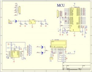 schematic diagram for wireless chat project