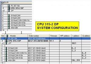 SIMATIC S7-300 PLC system configuration