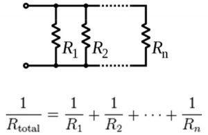 Parallel resistor circuits