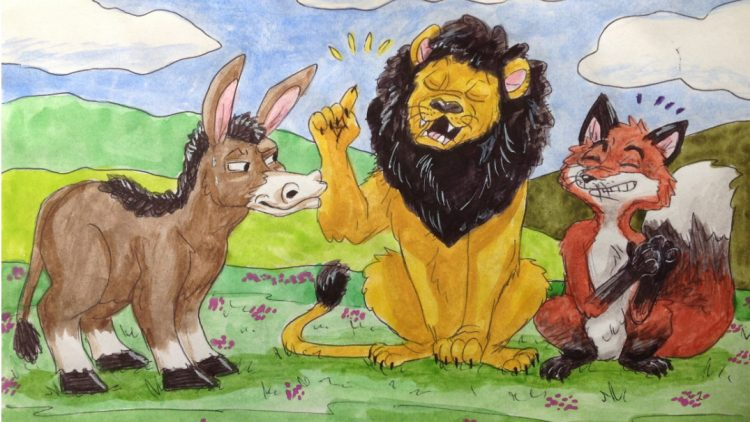 A tale of Lion, Fox, and Donkey in a forest – A tale from RUMI