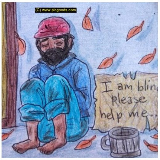 A beggar and the change of the strategy