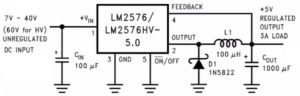 internal block diagram of the LM2576 IC