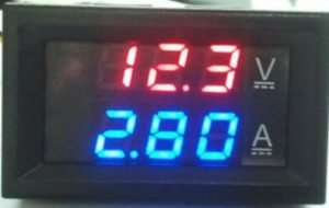 LED DC dual display digital current and voltage meter 0-100V