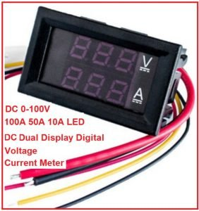 DC 0-100V 100A 50A 10A LED DC Dual Display Digital Voltage Current Meter Head with Fine Tuning M5Q2