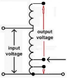 Autotransformer internal wiring schematic