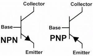 P-type NPN and N-type PNP.
