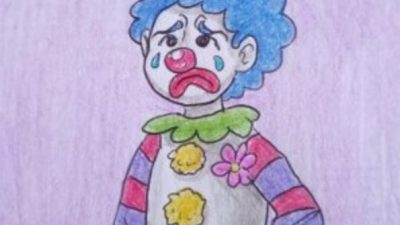 A very sad clown