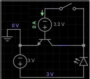 non transistor conductive state