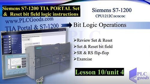 Siemens S7-1200 TIA PORTAL Set Reset bit field instructions