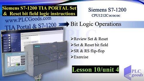 Siemens S7-1200 TIA PORTAL Set Reset bit field instructions