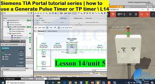 Siemens TIA Portal Generate Pulse Timer  TP Lesson 14