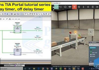 TIA Portal tutorial series On delay & off  delay Timer Lesson 15