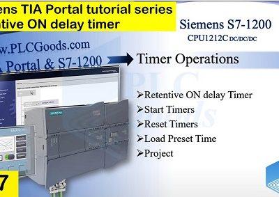 Siemens TIA Portal Retentive ON delay timer Lesson 17