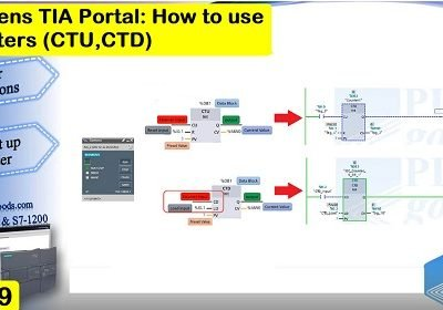 Siemens S7-1200 TIA PORTAL how to use CTU & CTD counters Lesson 19