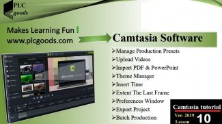 Camtasia tutorials – Batch production, import PDF, Add logos to themes, Extend a frame , Export